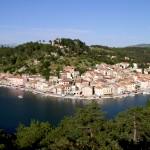 Panoramisk udsigt over byen Novigrad, Kroatien